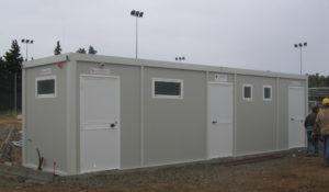 Comune di Mandas (provincia Cagliari): bagno spettatori campo da calcio comunale.