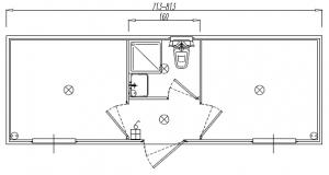 v40 cvld serv centr wc lavabo doccia